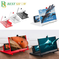 Holderの広州3D HD 10 12 Inch Foldable反Radiation Mobile Smartphone Cell Table Stand Video Screen Magnifier High Definition Phone Screen Amplifier