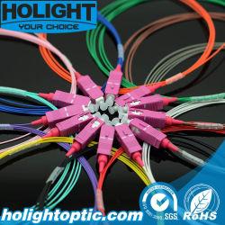 12 couleurs de queue de cochon pour câble de fibre optique SC