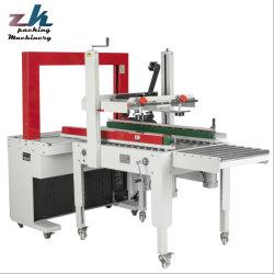 Caja de cartón cintas automáticas de PP/caso /Box Strapper/cinta/máquina flejadora con la erección de la estanquidad del sistema de paletizado de etiquetado de Embalaje Embalaje /Package/transportador