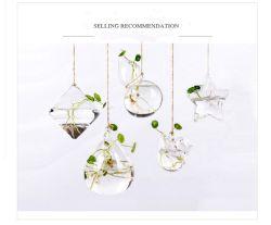 Jarro de vidro para pendurar criativa hidroponia vaso de flores para a decoração do escritório doméstico