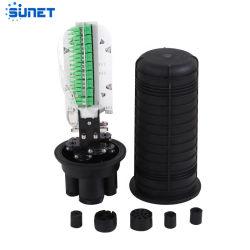 24-144 fibres 1 dans 6 type dôme FTTH boîtier en fibre optique mixte avec tube en acier de fermeture de l'adaptateur PLC
