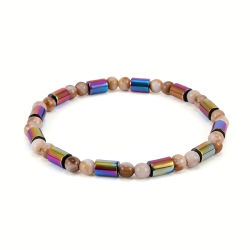 Hematite cordões em acrílico colorido exclusivo Anklet Joalharia