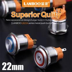 Interruttore di pulsante impermeabile del Anti-Vandalo di Lanboo 22mm (CE ISO9001)