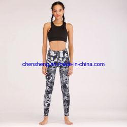 Оптовая торговля учебные занятия спортом йога износа светоотражающие Custom Сублимация напечатано Leggings дамы тонкий спортивной одежды спортзал колготки