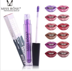 Stick à lèvres Fashinable liquide couleur métallique mat lèvre composent Mlle Rose