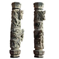 В Греческом стиле больших гранита мраморные колонны с драконом для внутренних дел наружные защитные элементы