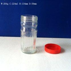 220ml de Kop van het Glas van de Mok van de Koffie van het glas met Plastic GLB