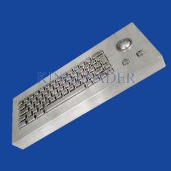 堅牢なステンレススチール製キオスクキーボード(トラックボール付き)