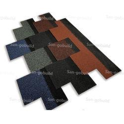Mejor calidad de fibra de vidrio techado de asfalto culebrilla India Tailandia construcciones Mayorista de materiales de construcción