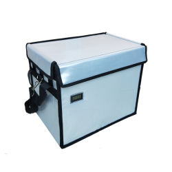 Caixa de refrigeração para gelo de transporte médico laboratorial de 10 L.