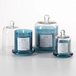 Vaso della candela di cooperativa del farmacista con un insieme di vetro della cupola di 3 piccoli vasi di vetro di Middium con l'insieme inferiore e di vetro di campana di vetro del vaso della cupola