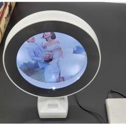 마술 미러 액자 고정되는 플라스틱 라운드 USB 가벼운 창조적인 사진 스튜디오 사진 프레임