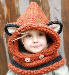 Теплый мягкий Cute Funny Фокс партии животных Red Hat