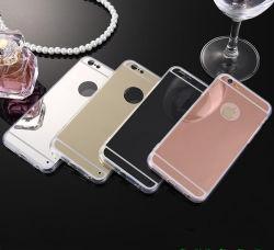 Specchio di lusso degli accessori mobili che placca la cassa molle del telefono della radura TPU per il iPhone 5/5s/5se6/6s/6 più il caso del coperchio del telefono delle cellule