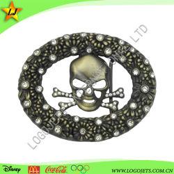 3D Hot Sale Nouveau style de l'Ouest personnalisé La boucle de ceinture de cuir avec Brillant Diamond