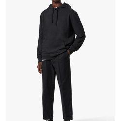 New Min Black Street Fashion Casual Plain Solid Color Pللانسحاب هوسديز ذات ملصق مخصص