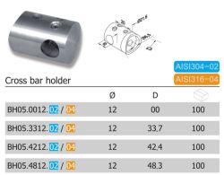 21,6mm de acero inoxidable titular de la barra transversal (BH05.02/04)