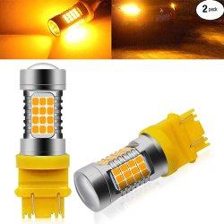 TailleAmbersuper 3156/3157 Bright Orange 3157 LED AmpoulesLED CMS 54 PCS chipset, la conception de l'angle d'éclairage de 360 degrés, aucune tache aveugle, 300 % plus lumineux que les lampes de stock.