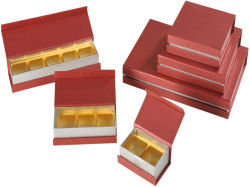 Rotes Graining Paper Package Pill Boxes mit Blisters