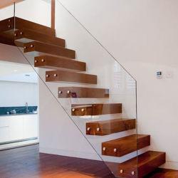 Projeto casa flutuante de vidro temperado escadas escada de decoração de interiores escadas industriais