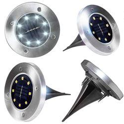 Lâmpada de grama de energia solar enterrados para lâmpada LED da luz de piso do caminho para o jardim do pátio Solar da retaguarda
