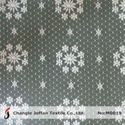 Нейлоновой сетки цветочный ушко кружевной ткани (M0019)