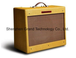 맞춤형 래커 고급 비닐 Tweed 5e3 유선 기타 콤보 증폭기 20W Bassman AMP