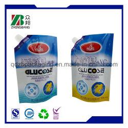 Joint de la chaleur de la goulotte en plastique laminé Pouch pour détergents à lessive