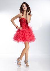 Вышитого тюля с валика клея короткое замыкание Sexy Party платья (PAD4005)