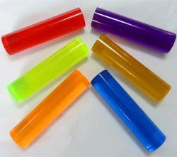 Personalizar la barra de acrílico de color claro y tubos de plástico de plexiglás