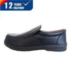 Parte superior em couro solado de injeção de poliuretano Mens sapatos de trabalho de Segurança do Office Casual calçado