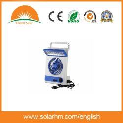 3 in 1 ventilatore solare di CC con l'indicatore luminoso e la torcia elettrica del LED