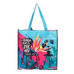 O logotipo personalizado de PP reutilizáveis tecidos Sacola de Compras, Storge Bag sacola, saco de promoção