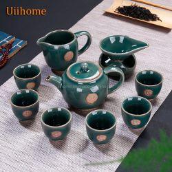 Ge horno piezas abierto de la miel Glaze Tea Set Set de regalo