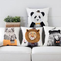 Animal lindo Panda León Sala de estar Sofá Cojín Cojín de la barra de la Oficina de aprendizaje de la Almohada