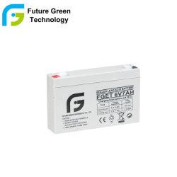 6V 10Ah Valve Regulated batterie plomb-acide pour éclairage de secours