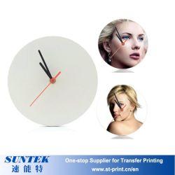 Commerce de gros DIY Sublimation horloge MDF de transfert de chaleur