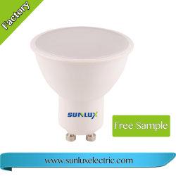 مصباح LED، عدسة PMMA قابلة للتخفيت، 7 واط، مصباح إضاءة LED GU10