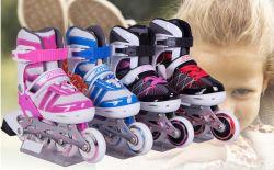أحذية تزلج قابلة للتعديل للأطفال