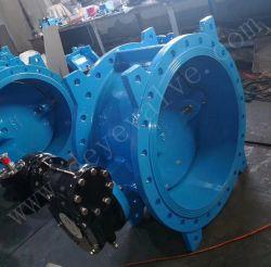 Double excentrique de décalage en fonte Ductile Iron Body EPDM PTFE NBR Vanne papillon à embase de siège pour l'industrie de l'eau potable