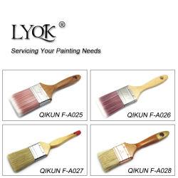 F-A025ハードウェアはペンキ手のツールの木のハンドルの剛毛のローラーの絵筆を飾る