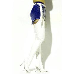 여자 단화 하이 힐 무릎 단검 허벅다리 시동에 섹시한 버클 벨트