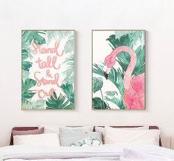 El arte de pared original diseño estampas Giclee Lienzo Flamingo imprime