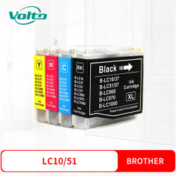 Compatible Brother LC10 LC51 Cartouche d'encre couleur pour Brother DCP-110C 115C 120C 130C 135C 150C 153C 157C 330C 350C 540cn 560cn 750cn 750CW 770CW