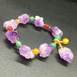 De natuurlijke Violetkleurige van de Violetkleurige Lavendel van de Armband Vrouwen van de Armband vormen Natuurlijke Eenvoudig