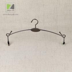 Fil Métallique de Nickel Noir Personnalisé Vêtement Hanger avec des Clips
