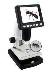 Independente de 3,5 polegadas 1200X 5m Microscópio digital LCD com medição de foto/vídeo