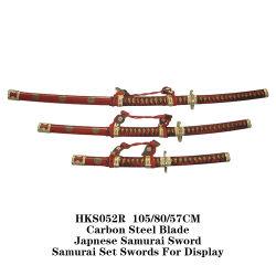Japnese самурайский меч самурайский набор мечи для отображения 105/80/57см Hks052r