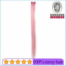 Cabelos lisos Colordful Rosa sintético de 1 peça encaixar as extensões de Cabelo com sedas coloridos
