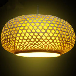 Swag-Lampen-Bambusdecken-Laterne